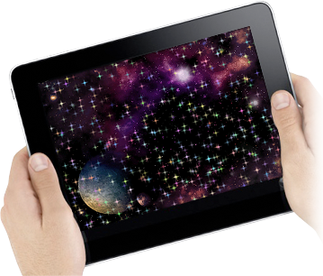 AppGameKit starfield demo on Apple iPad